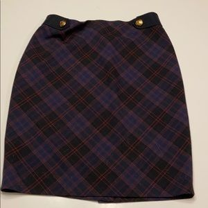 The Limited plaid pencil skirt